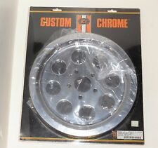 Custom Chrome - Rear Belt Drive Pulley Cover for Harley Davidson 1980-Up