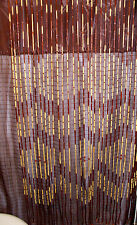 BAMBOO BEADED DOOR CURTAIN SOUTHWESTERN HOME STYLE PATTERN EASY INSTALL NIB