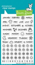 "Lawn Fawn 4""x6"" Clear Stamp LF1177 - Plan on It: Calendar Planner"