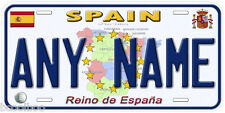 Spain Any Name Personalized Car Auto Tag Novelty License Plate B01