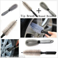 Practical Car Wheel Rim Tire All-round Clean Wash Brushes 2 In 1 Tools For Lexus