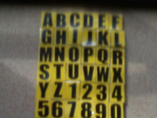 7 SELF ADHESIVE / STICK ON VINYL  NUMBER PLATE   letters and numbers y
