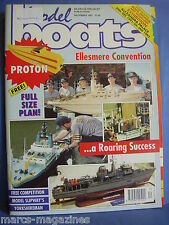 MODEL BOATS DECEMBER 1991 PROTON PLAN RIPPLE HMS EXETER BLUEBIRD OF CHELSEA