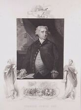"""""""Charles James Fox"""" engraving after Hoppner by Cook for J & F Tallis ca 19th c."""