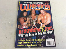 Pro Wrestling Illustrated PWI Magazine April 1998 DX Cover W/ Shamrock Poster!