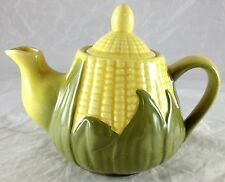 SHAWNEE YELLOW CORN KING PATTERN SMALL TEA POT  #65 WITH HANDLE & POURING SPOUT