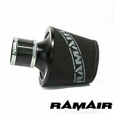 RAMAIR BLACK LARGE PERFORMANCE ALUMINIUM AIR FILTER WITH 70MM ID COUPLING