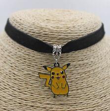 Cute Pikachu Pokemon Oil Painted  Pendant Jewelry Choker Collar Bib Necklace#14
