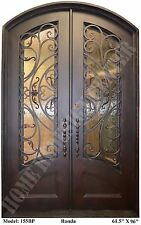 Wrought iron entry doors, Doors with forged iron, Eyebrow arch top