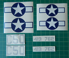 "P51 Mustang Decal set. Self adhesive Vinyl. 63"" wingspan  Approx  7th scale"