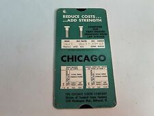 Vintage Computer for Heat Treated Hexagon Head Cap Screw Slide Ruler Chicago Co