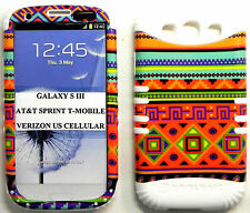 HYBRID SILICONE RUBBER+COVER CASE SKIN SAMSUNG GALAXY S3 COLORFUL AZTE