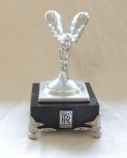 Rolls Royce Silver Lady Hood Ornament in Silver Plaster on a Marble Base