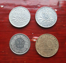 FRENCH AND SWISS FRANC COINS