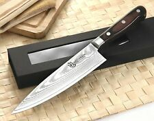 KATSURA Japanese Damascus Steel Chef Knife Cutlery VG-10 8 inch RAN SHUN