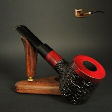 "HAND MADE UNIQUE WOODEN  TOBACCO SMOKING PIPE PEAR  Poker   "" No 63 ""  Red"