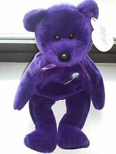 TY BEANIE BABY *1ST EDITION*  PRINCESS THE BEAR - PE PELLETS & HANDMADE IN CHINA