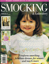 Australian Smocking & Embroidery Magazine issue 74 BRAND NEW