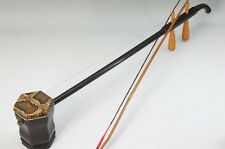 Chinese 2-Strings Instrument Erhu Snake Leather Wood w/bow 646f15