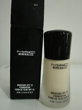 MAC Mineralize Moisture SPF15 Foundation Assorted Shades 30ml ~BNIB~