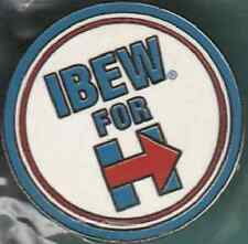IBEW UNION OFFICIAL LAPEL PIN CAMPAIGN 2016 HILLARY CLINTON ROUND BEAUTY