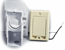 Central Vacuum Cleaner Supervalve Inlet Valve with 110V Receptacle, Ivory