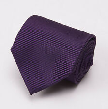 NWT $255 TOM FORD Silk Tie Solid Royal Purple Woven Twill Pattern Slim 3""
