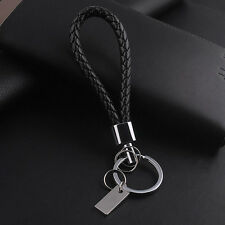 Men's Leather Alloy Metal Keyfob Gift Car Keyring Keychain Key Chain Ring Gift