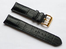 Quality Lug 22mm Black Genuine Leather Alligator Band Replacement Kenneth Cole