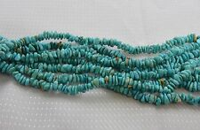 "Turquoise Nugget Chips 3-5mm Gemstone Beads 16"" Strabd Genuine Natural Turquoise"