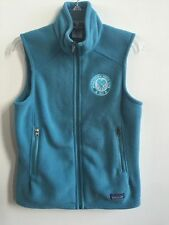 ~Patagonia Women's Sweater Vest Size M Turquoise Zipper Pockets