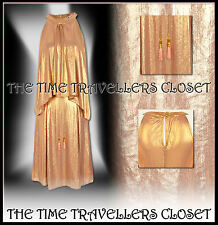 River Island Gold Chelsea Girl Metallic Frill Front Dress Lined UK 8 10 BNWT