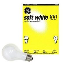 ~48 Pack~ 100 Watt GE Soft White Incandescent Light Bulbs - Household *41036*