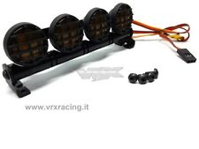 BARRA LUMINOSA 4 LED LUCE GIALLA IN METALLO + GRIGLIE VRX T985Y X 1-8 1-10 1-16