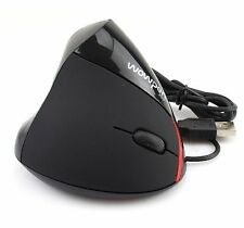 New Ergonomic Design WOWPEN Vertical USB Optical Mouse Wrist Pain UK SELLER !