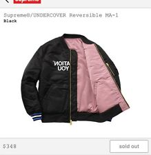 SUPREME X UNDERCOVER REVERSIBLE MA-1 JACKET BLACK/PINK Size M