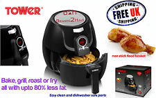 Tower Digital Airwave 3.2L Low Fat Air Health Fryer chip faster cooking Nonstick