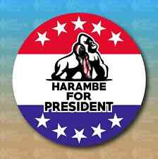 "Harambe For President 2016 4"" Funny Trump Hillary Custom Vinyl Decal Sticker JDM"