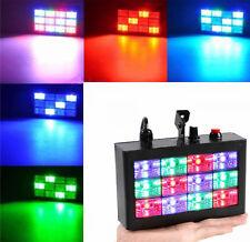 Luce stroboscopica,flash.Strobo disco,DJ,discoteca,12 LED con controllo musicale