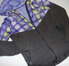 Nike Dri-Fit Fanatic Running Jacket Purple/Gray Hoodie Women's Size M 451401-060