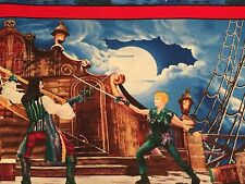 Fabric Pirates & Indians Scenic Border on Cotton (4 Yard +or- an inch)