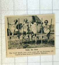 1955 The Good Quads Seven Years Old Stilt Experts Nettleton Wiltshire
