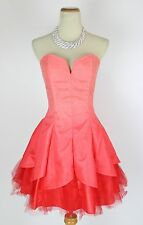 Masquerade $120 Evening Prom Formal Cruise Short Cocktail Dress size 7 Coral