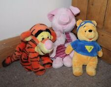 Disney Winnie the Pooh Piglet Tigger Bundle x 4 Soft Toys Plushes Free Post