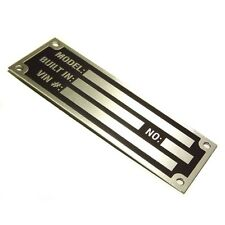 Anodized Aluminium universal custom manufacturer etched vin name plate