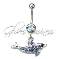 New Dolphin Dangle Navel Belly Button Ring Piercing Jewelry Belly Button Rings
