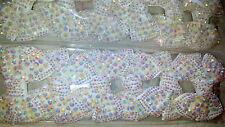 JOBLOT 12 un. Blanco AB Color Arco Diseño Brillante Hairclips nuevo por mayor Lote A3