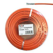 50 m CAT.7 Verlegekabel Gigabit Netzwerkkabel Kupfer LAN 1000Mhz S/FTP6 5 Kat.7