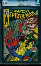 Amazing Spider-Man # 98  The Goblin's Power ! drug issue  CGC 8.0  scarce book!