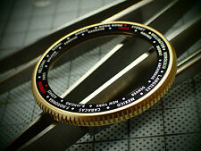 THE-COIN.100-0NE MATT GOLD IP CUSTOM BEZEL FOR SEIKO SKX007 7S26 - 020 DX-05-GL